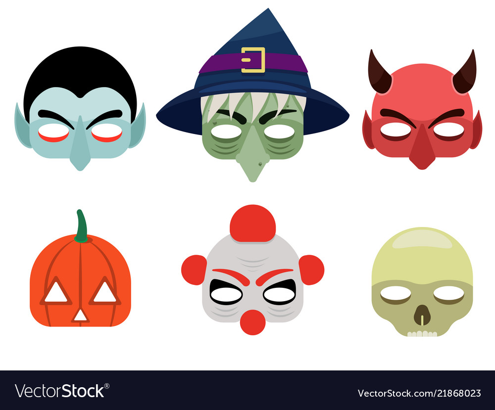 A set of mask for halloween
