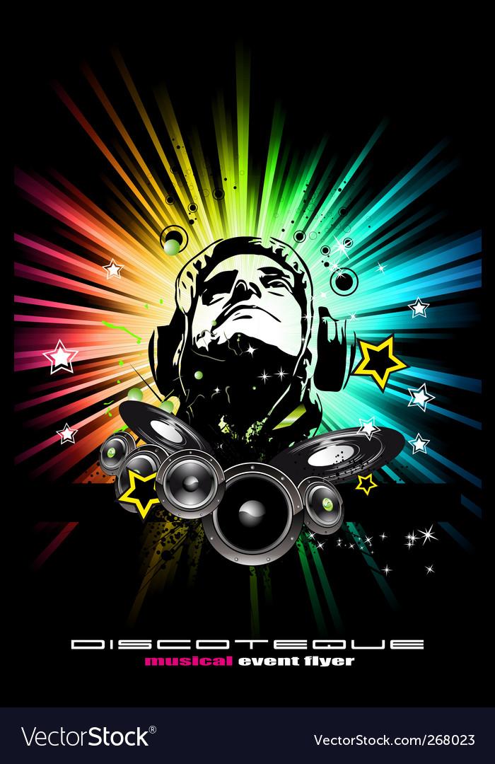 Alternative discotheque Dj music flyer