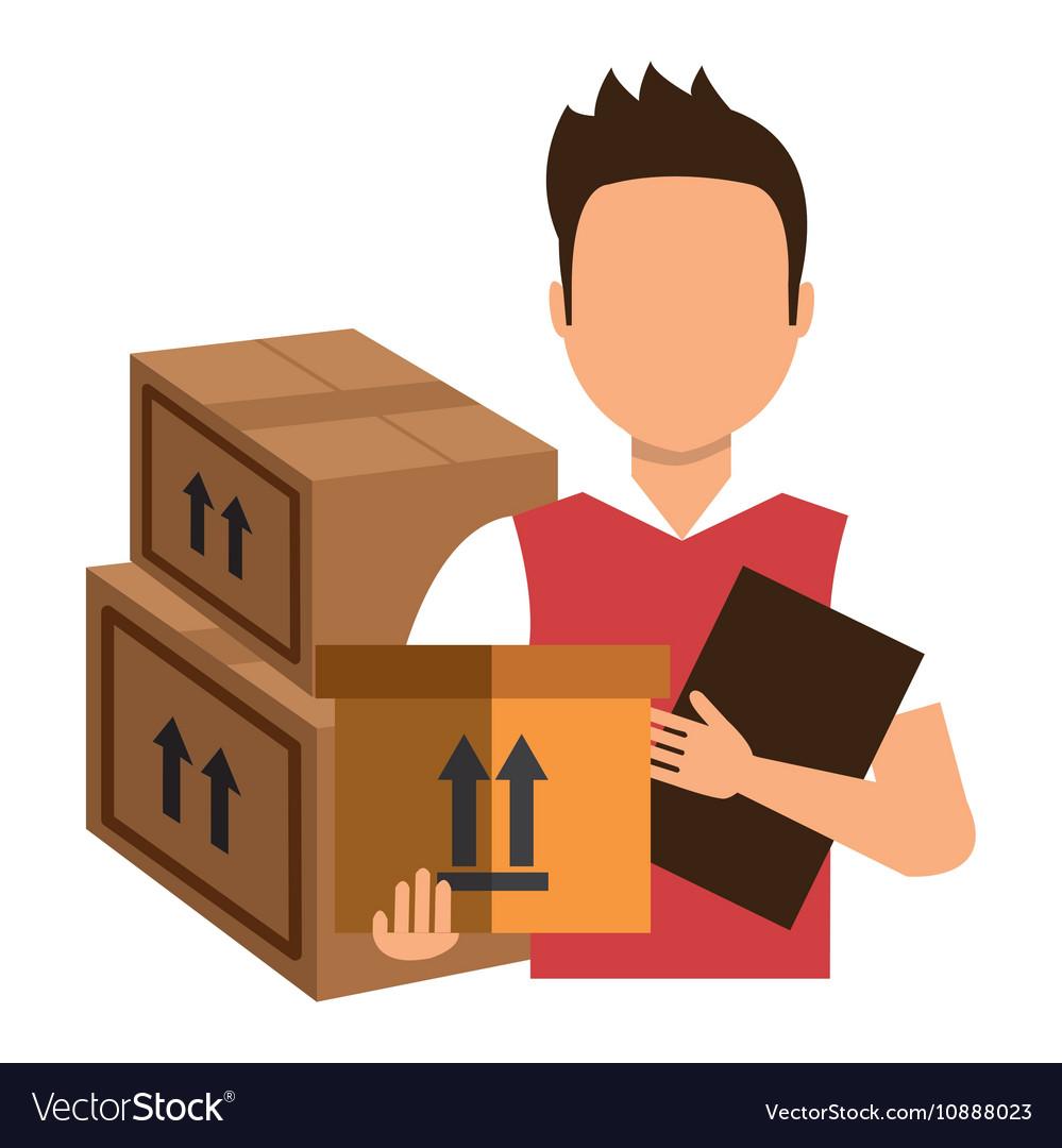 Delivery man cartoon