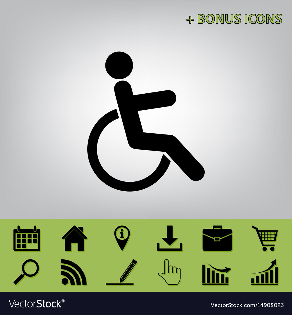Disabled sign black icon at