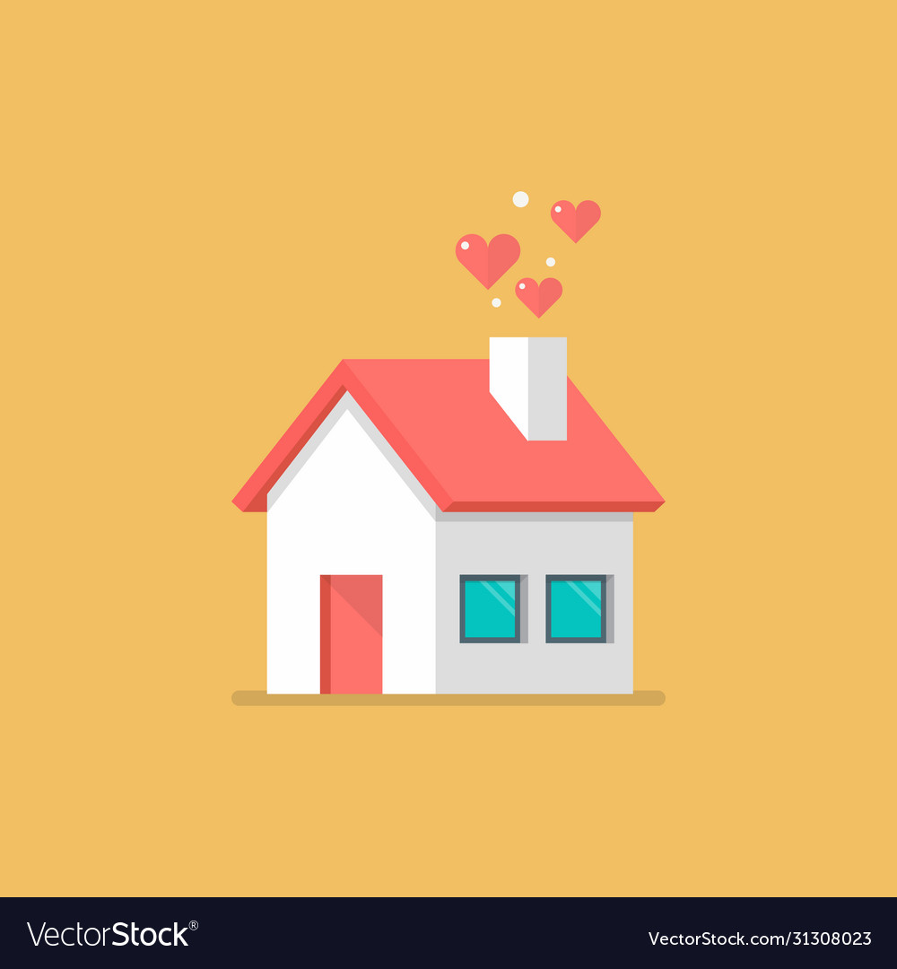 House icon with hearts
