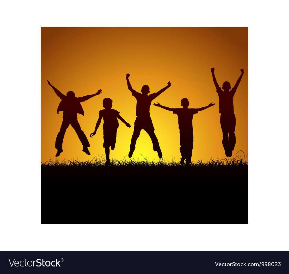 Joy of victory vector image
