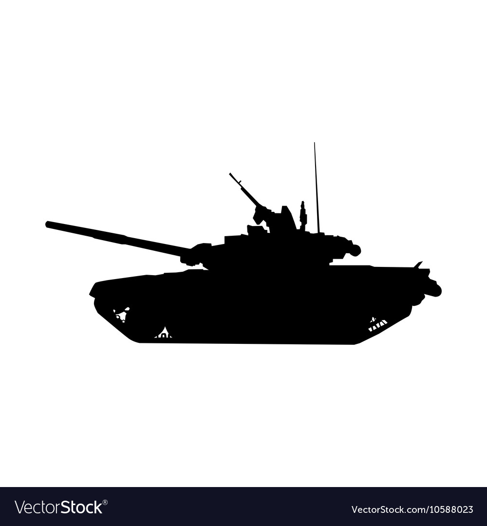 Military tank silhouette Howitzer icon
