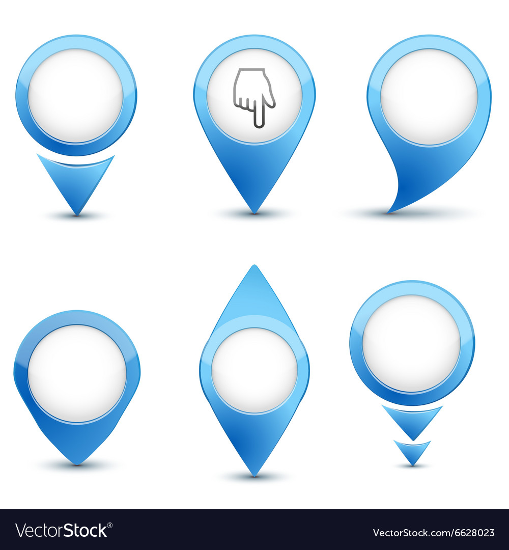 Set of map mark icons
