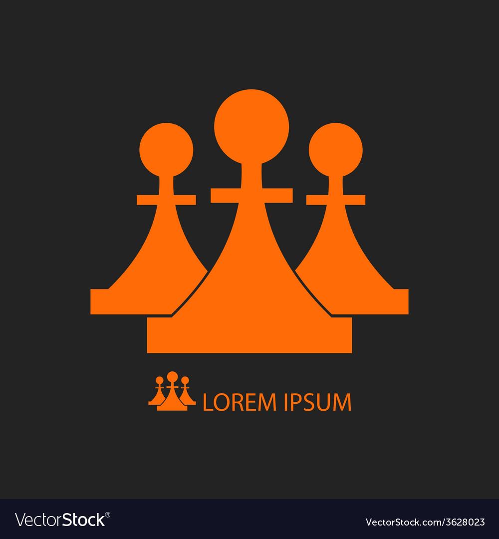 Three orange pieces