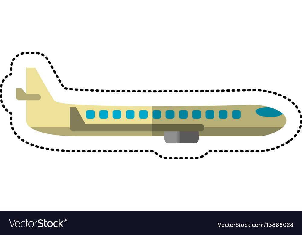 Airplane transport flying image
