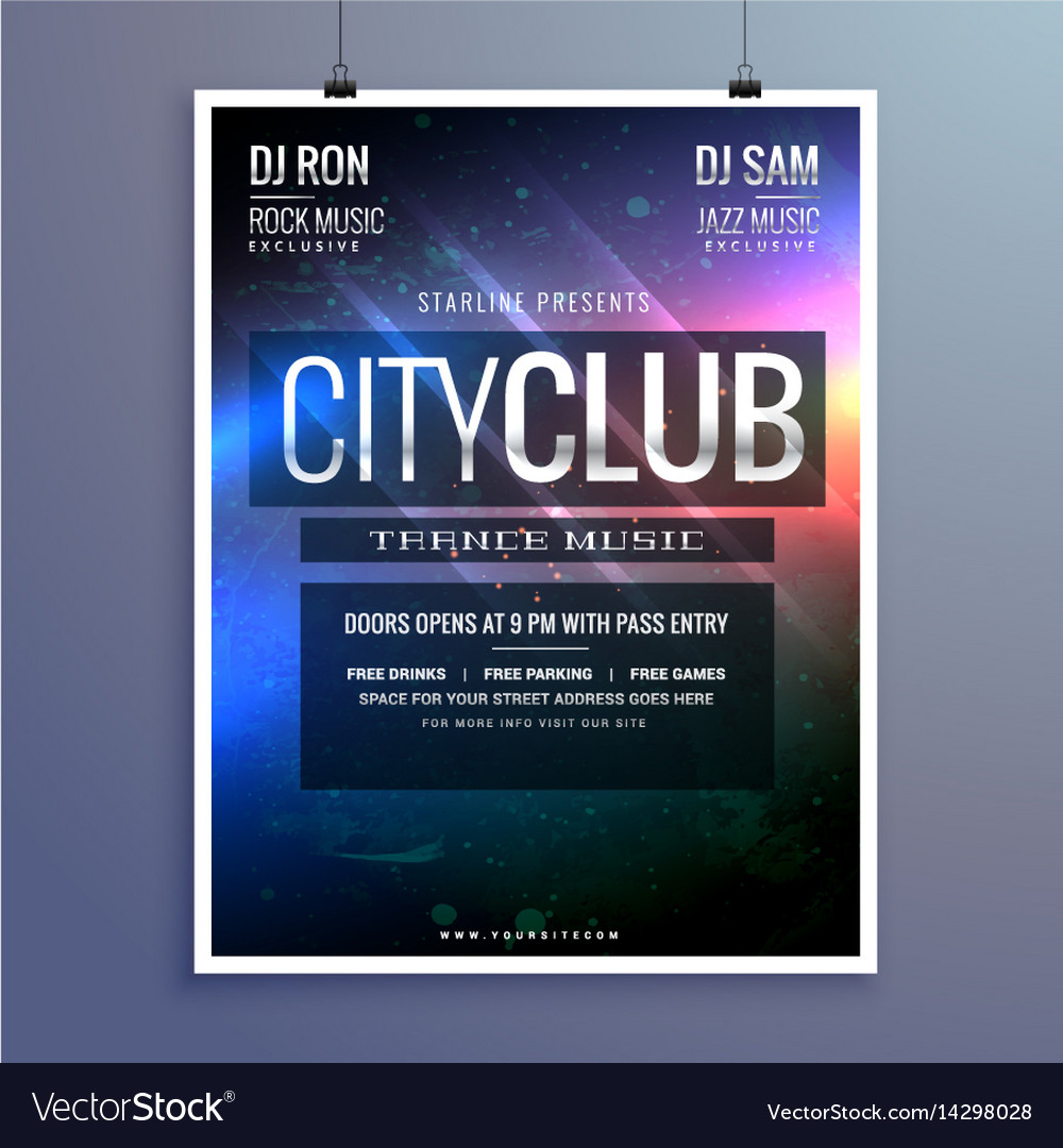 Amazing club music party flyer invitation template