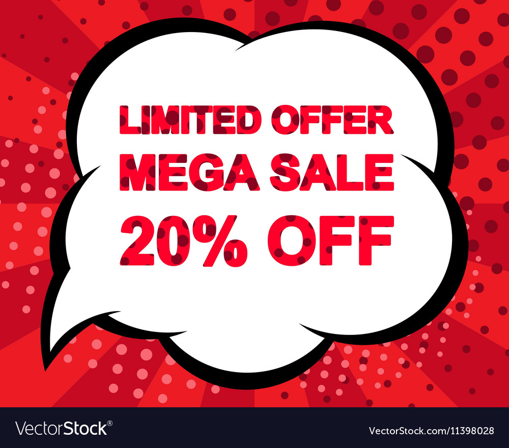 Big winter sale poster with LIMITED OFFER MEGA