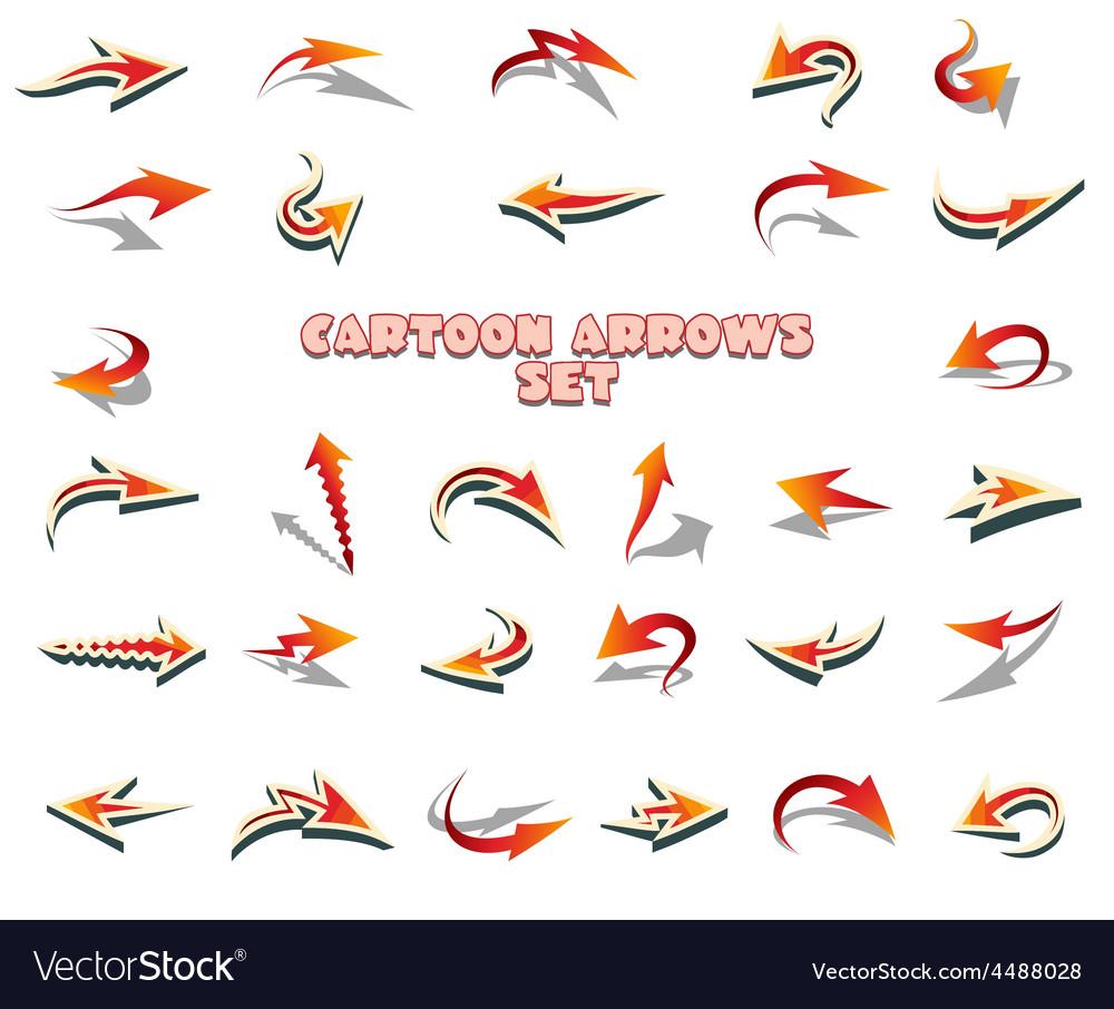 Cartoon Arrows Set