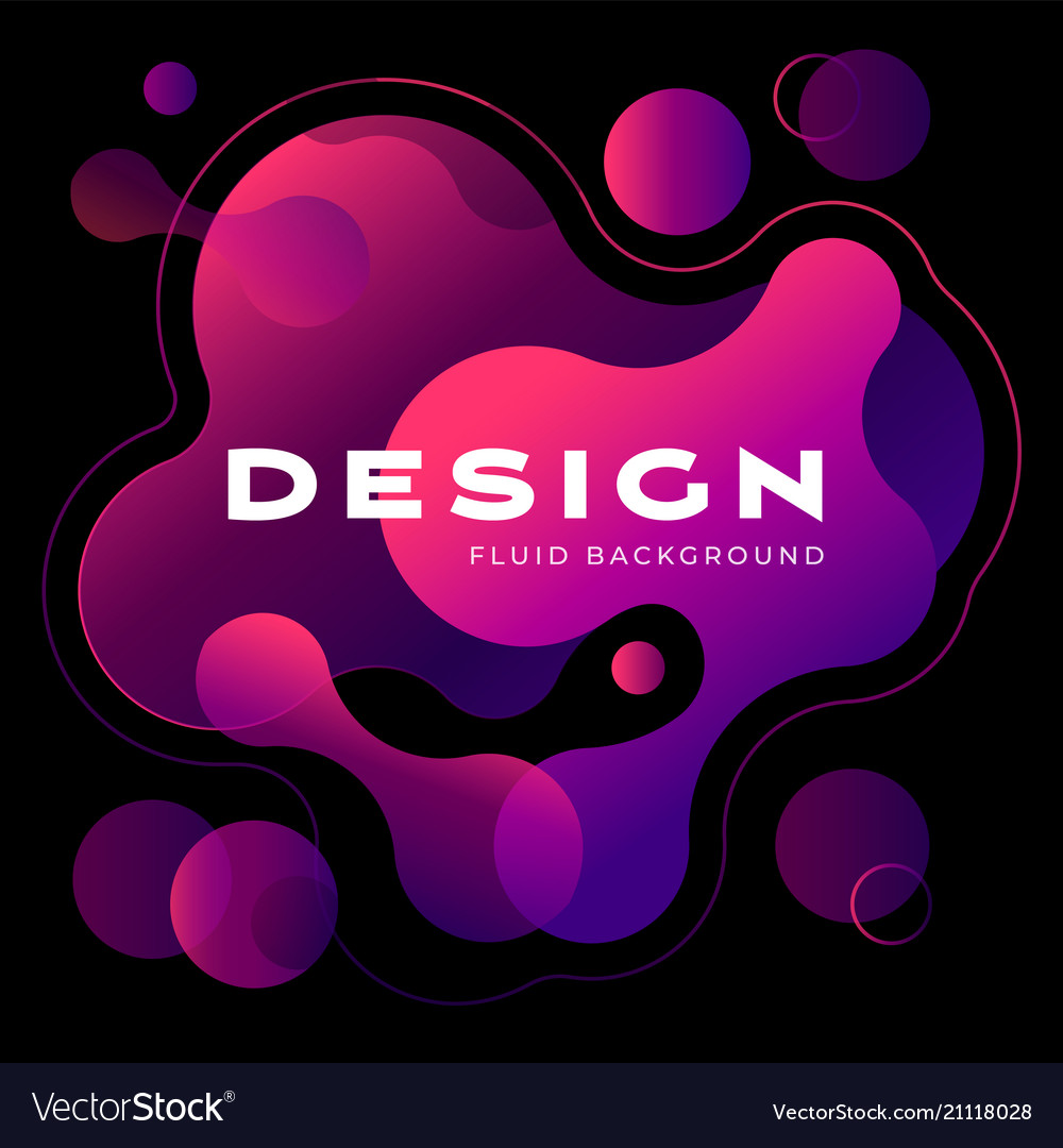 Colorful geometric background design fluid shapes