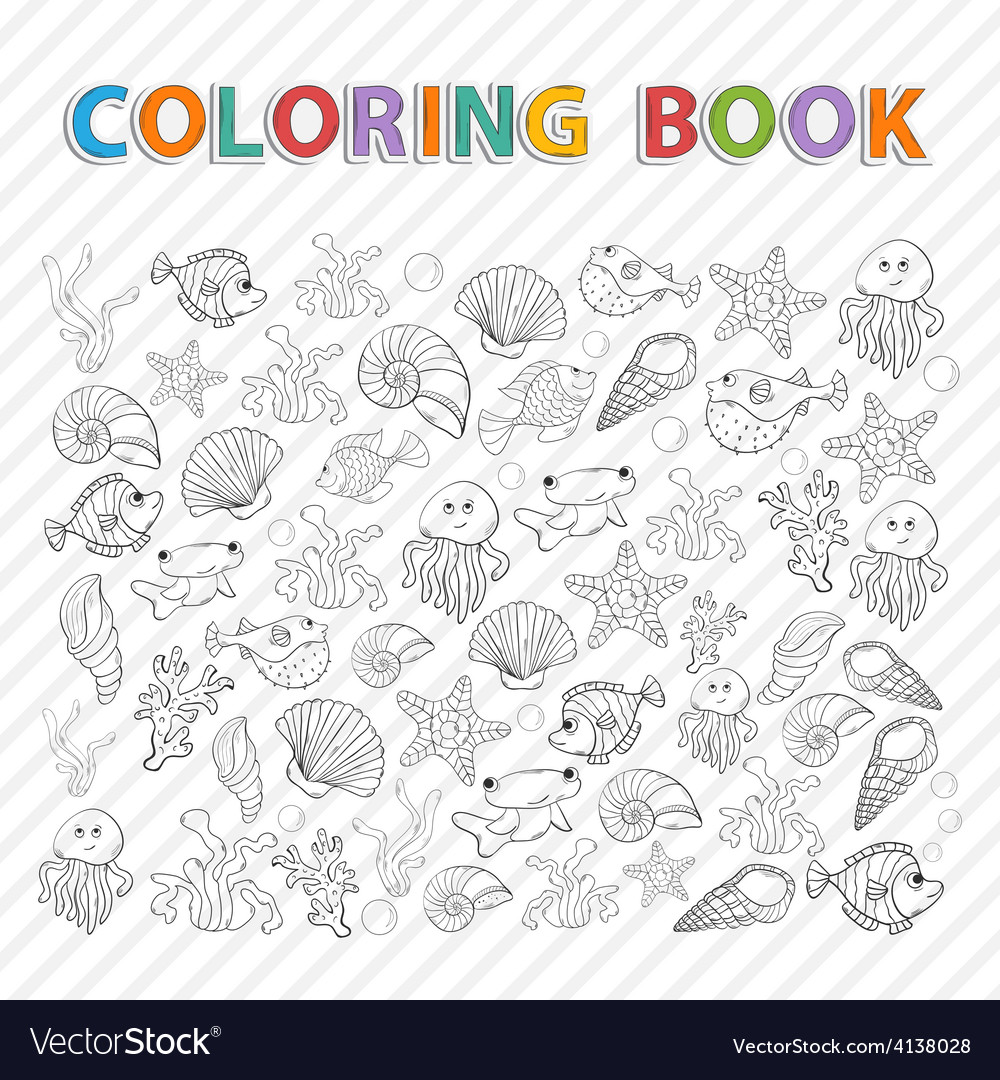 Coloring bookMarine life