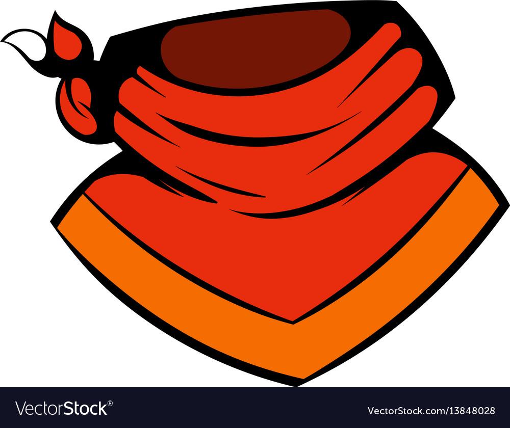 Cowboy neckerchief icon icon cartoon