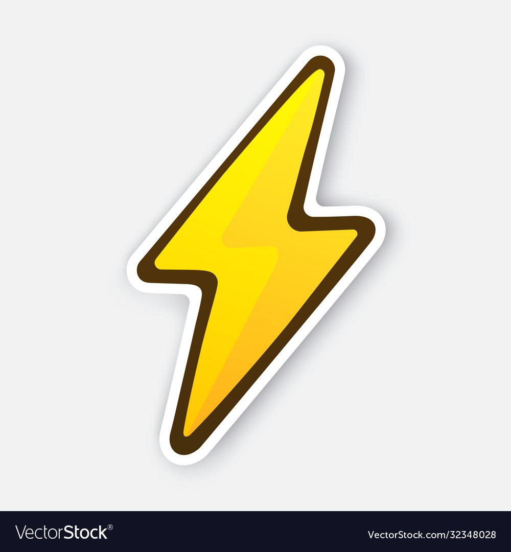 Electric lightning bolt thunderbolt strike Vector Image