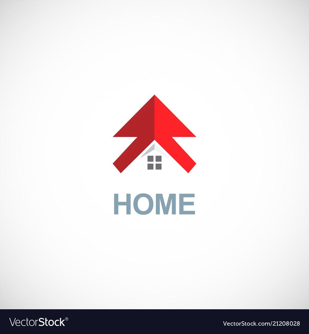 Home arrow logo