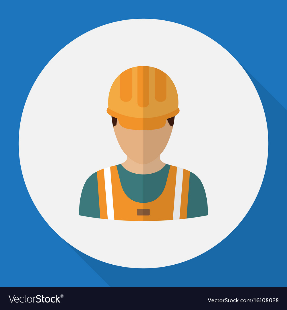Of profession symbol on worker