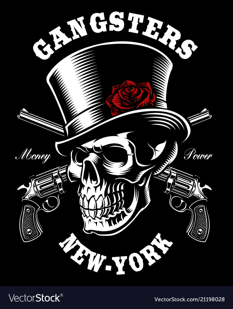 Skull with hat and guns