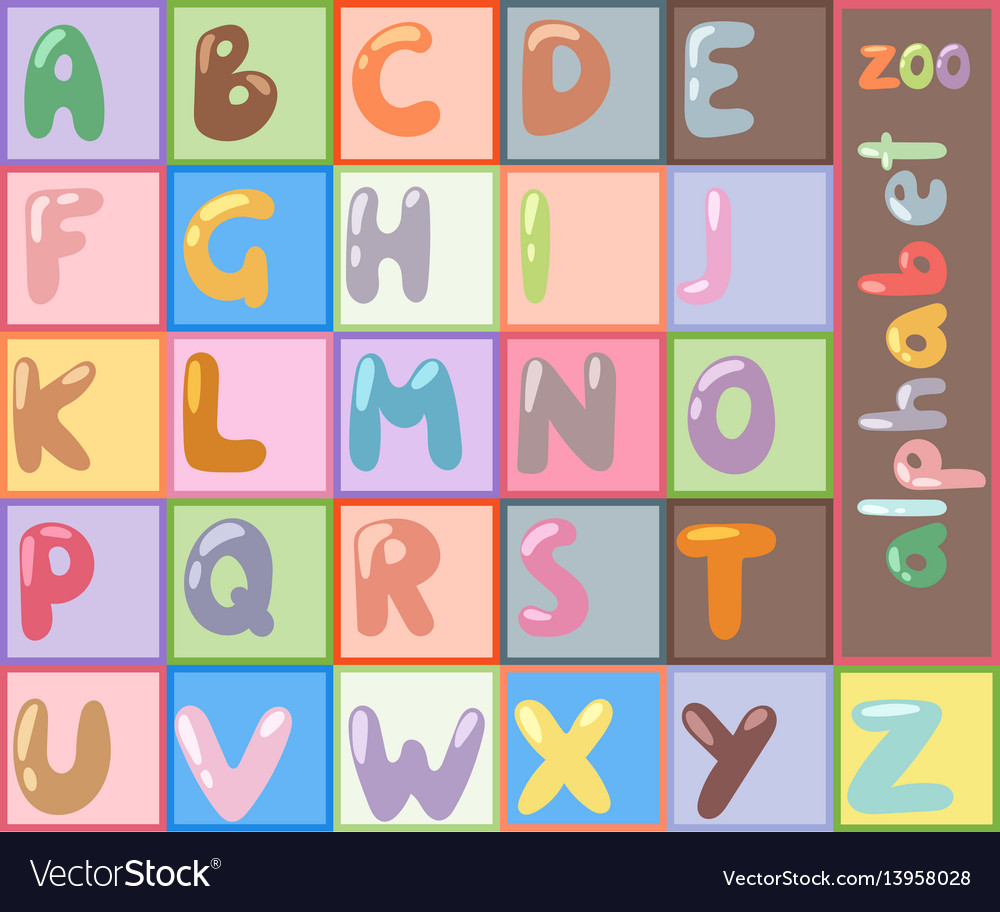 Stylized font abc type design letter