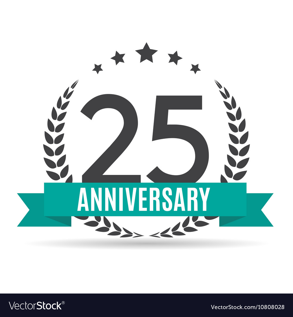 Template logo 25 years anniversary royalty free vector image template logo 25 years anniversary vector image altavistaventures Image collections