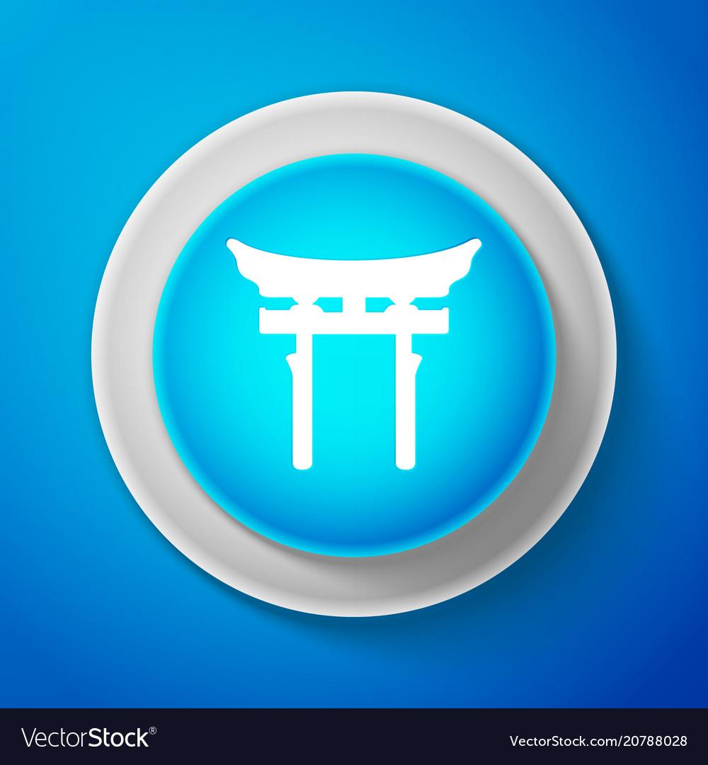 White japan gate icon torii gate sign