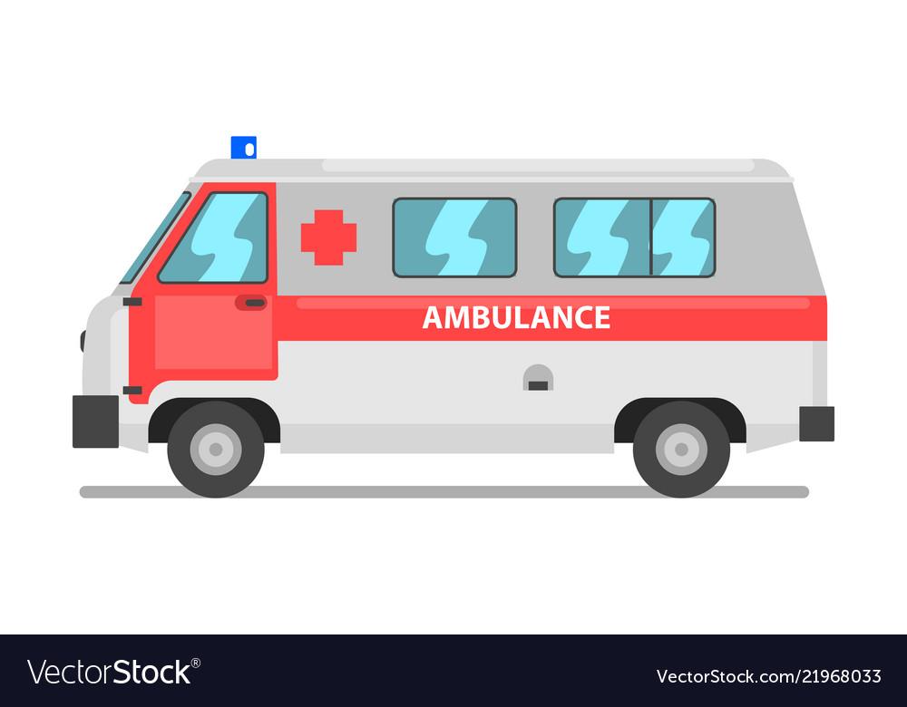 Ambulance service van emergency medical vehicle