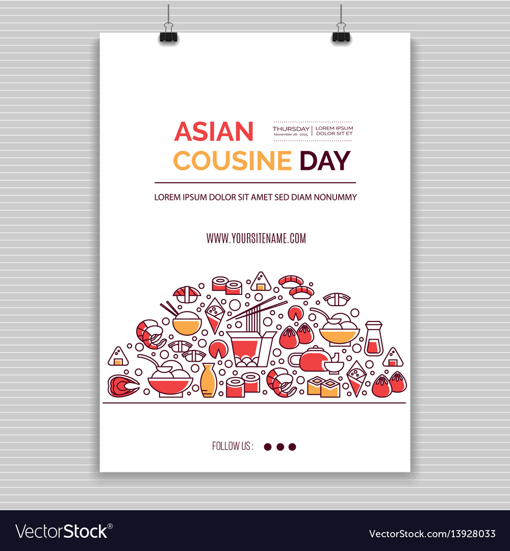 Asian food templates