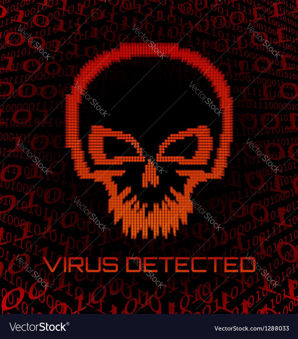 Digital skull virus vector image