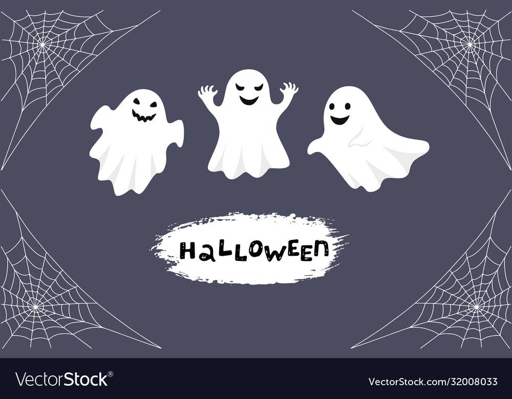 Halloween greeting card night background
