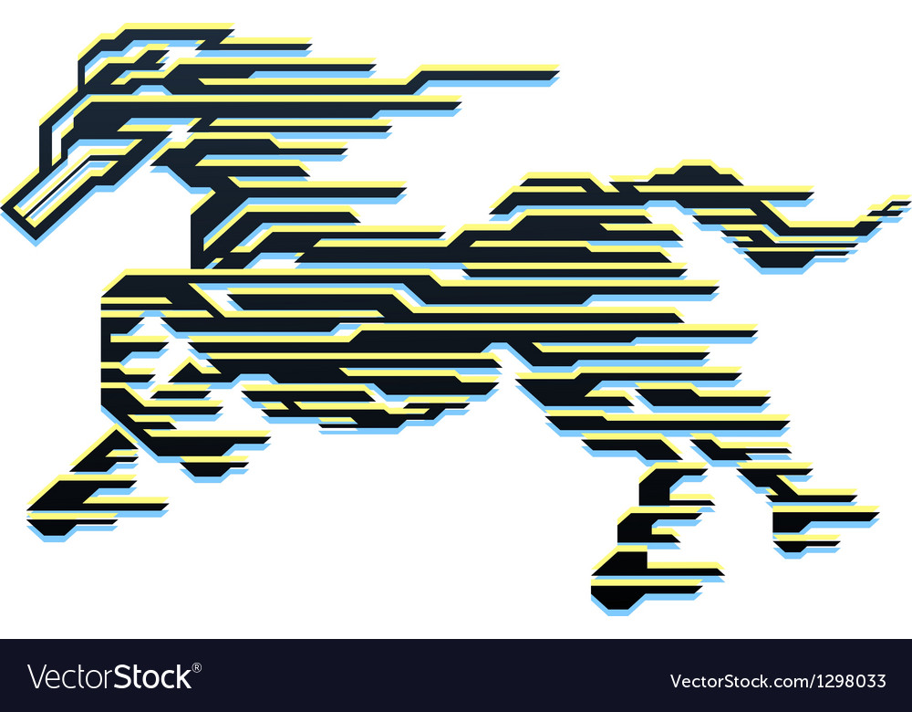 Horse of Speed vector image