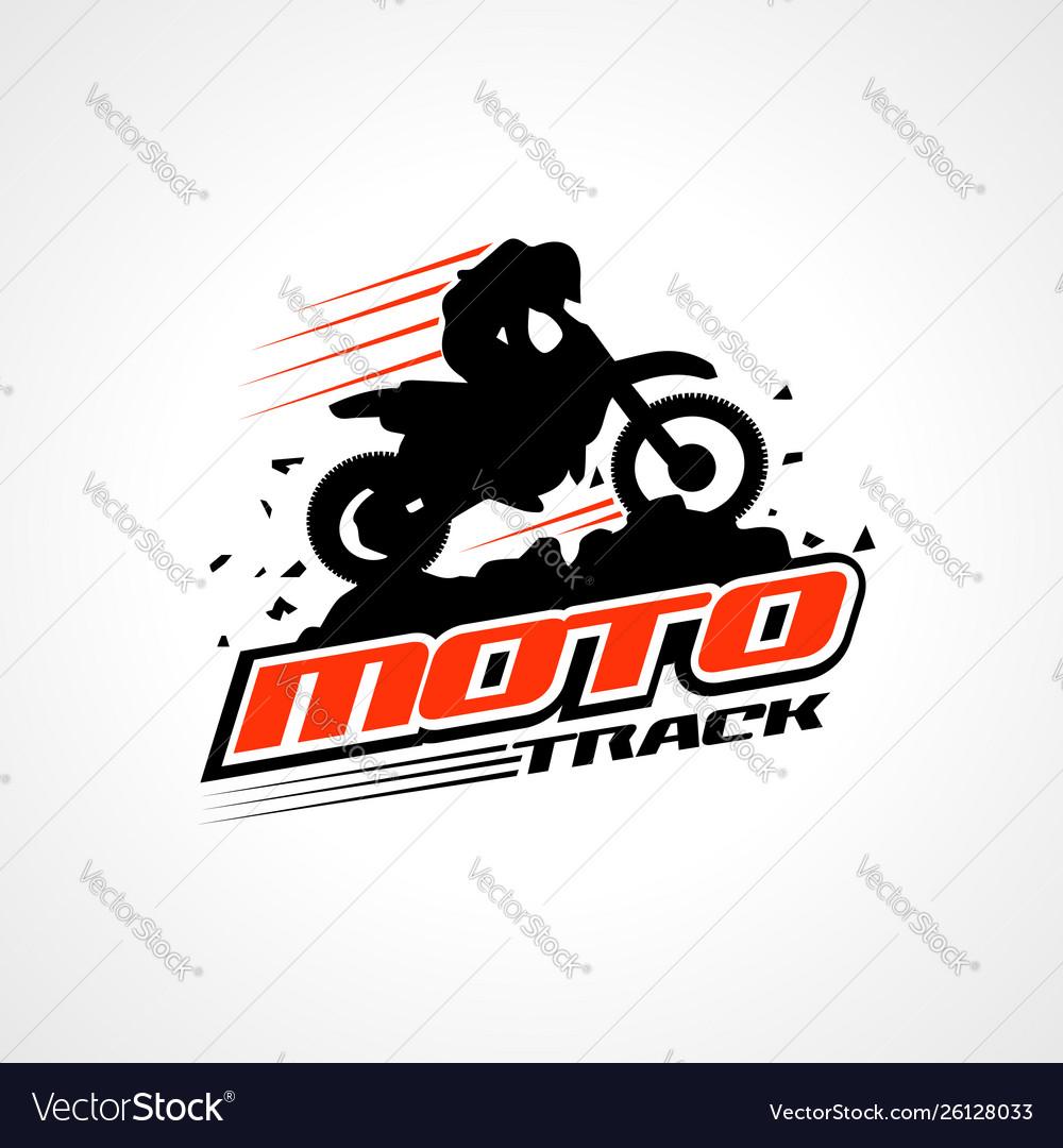 Moto Track Logo Sign Symbol Icon Royalty Free Vector Image