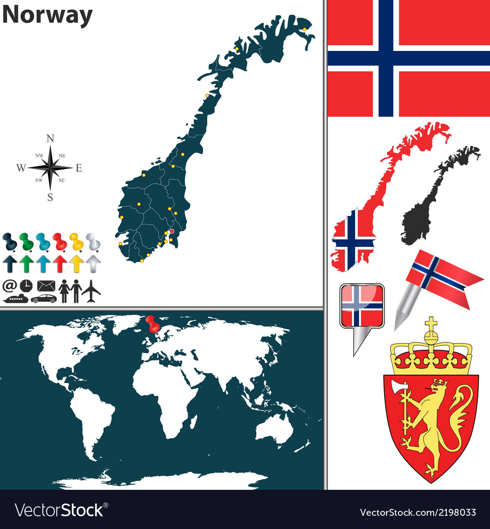 Norway map world