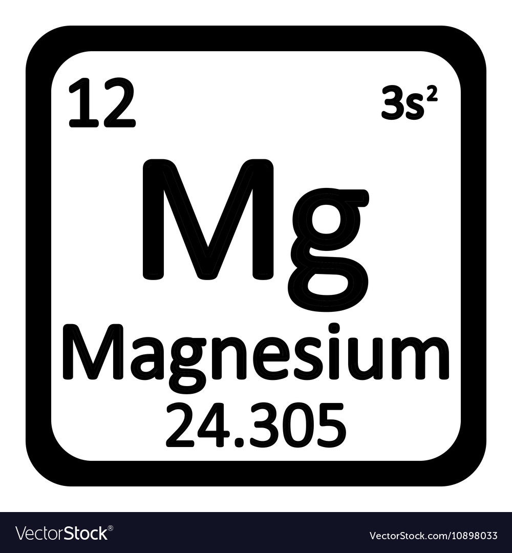 Periodic table element magnesium icon royalty free vector periodic table element magnesium icon vector image urtaz Images