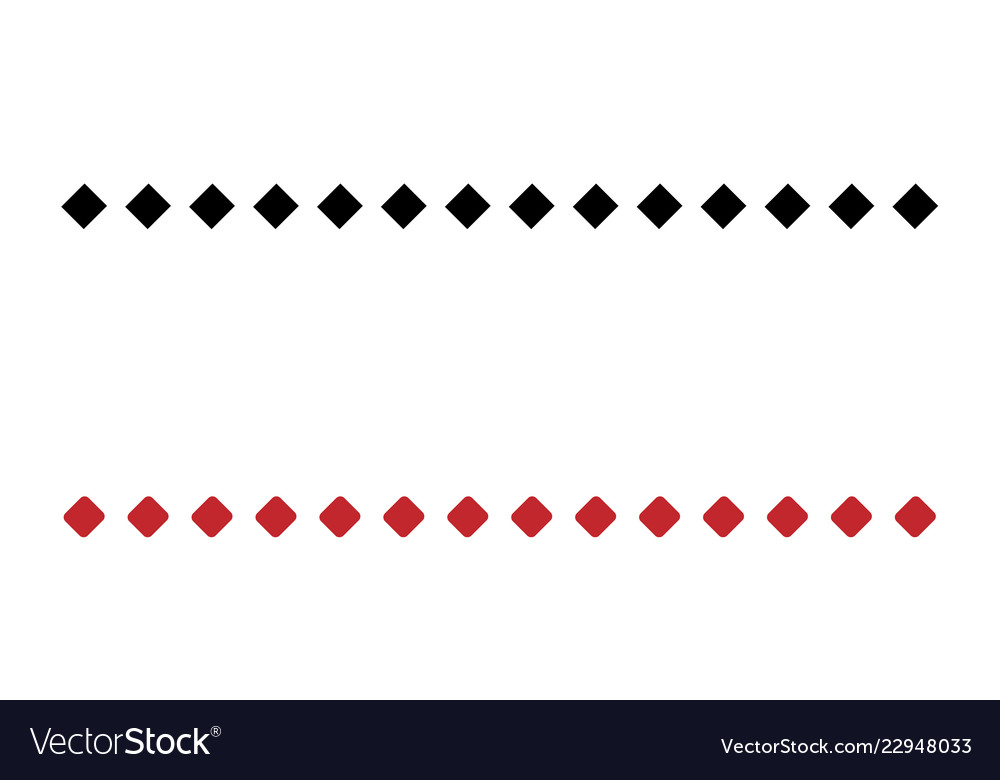 Two simple dotted line consists black and red
