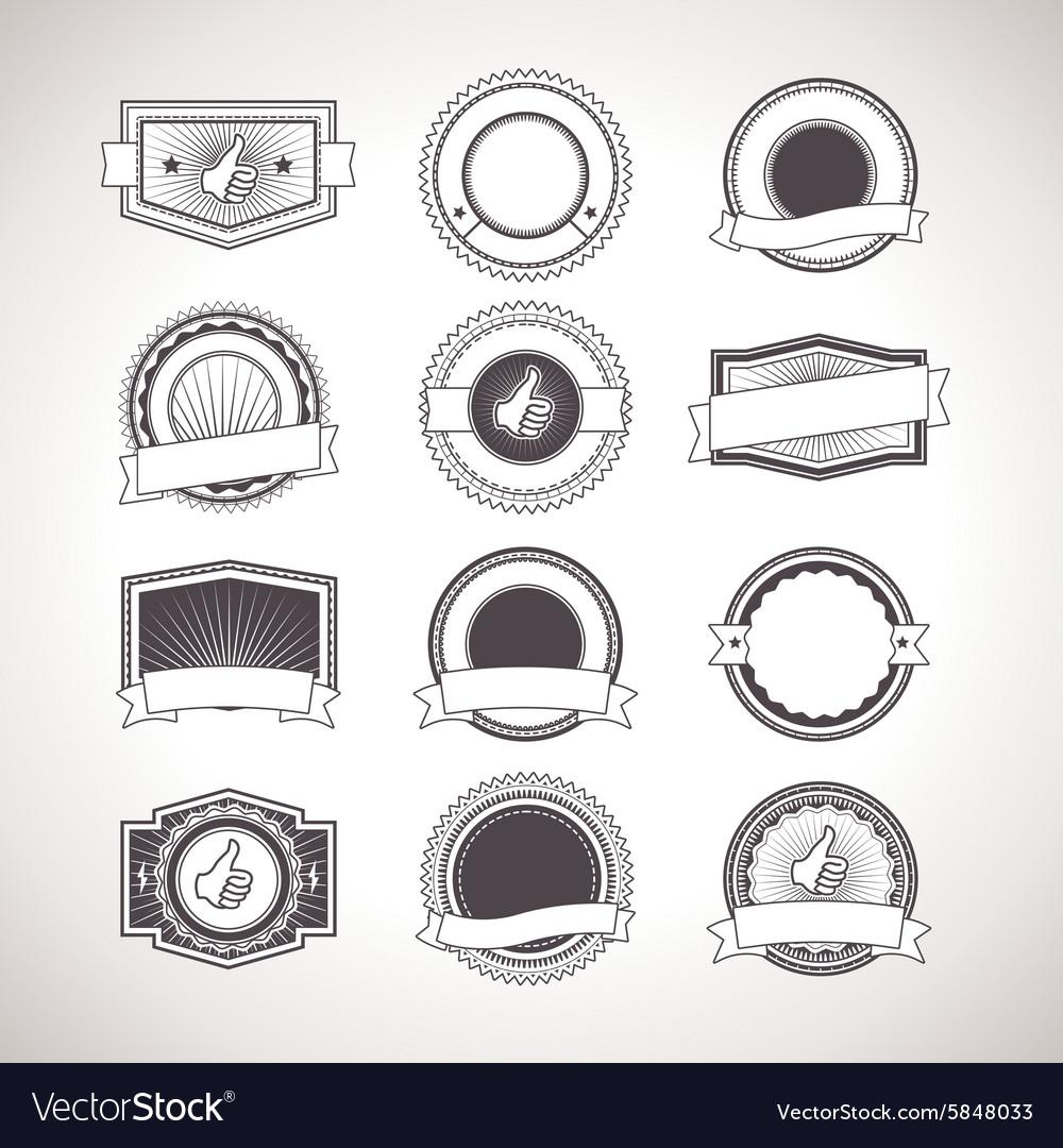 Vintage badges Retro Labels vector image