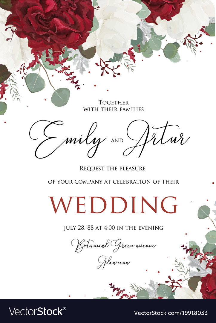 Wedding floral invite save the date card design