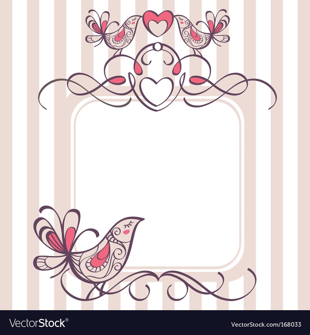 Wedding Photo Frames.Wedding Frame With Cute Birds