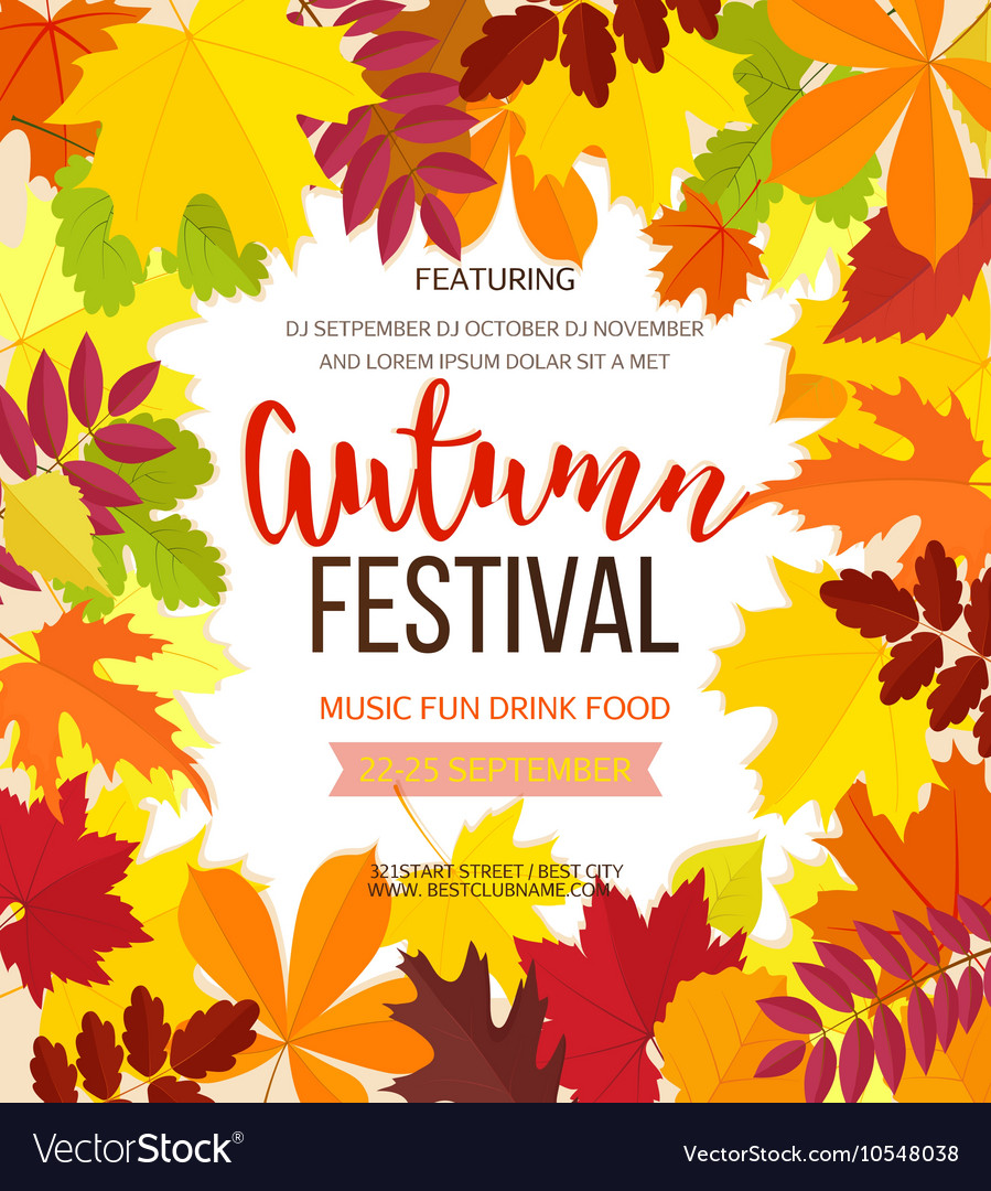 Autumn festival background invitation banner with vector image stopboris Images