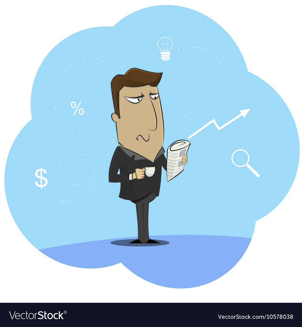 Businessman holding cup of morning vector image