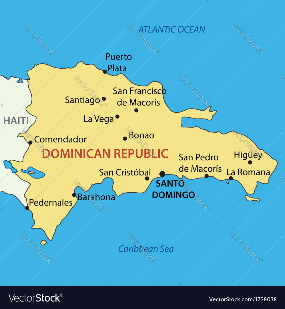Dominican Republic - map Royalty Free Vector Image