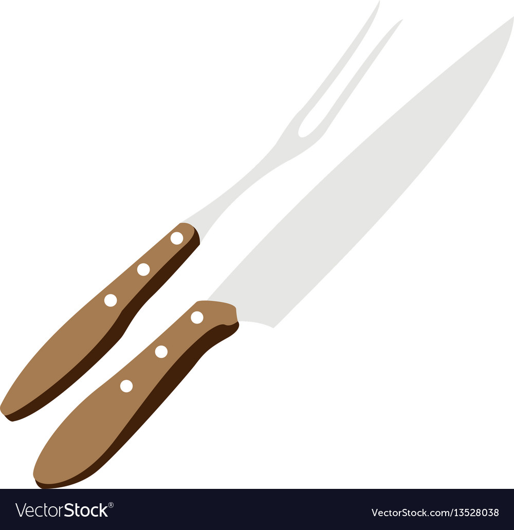 Isolated barbecue cutlery