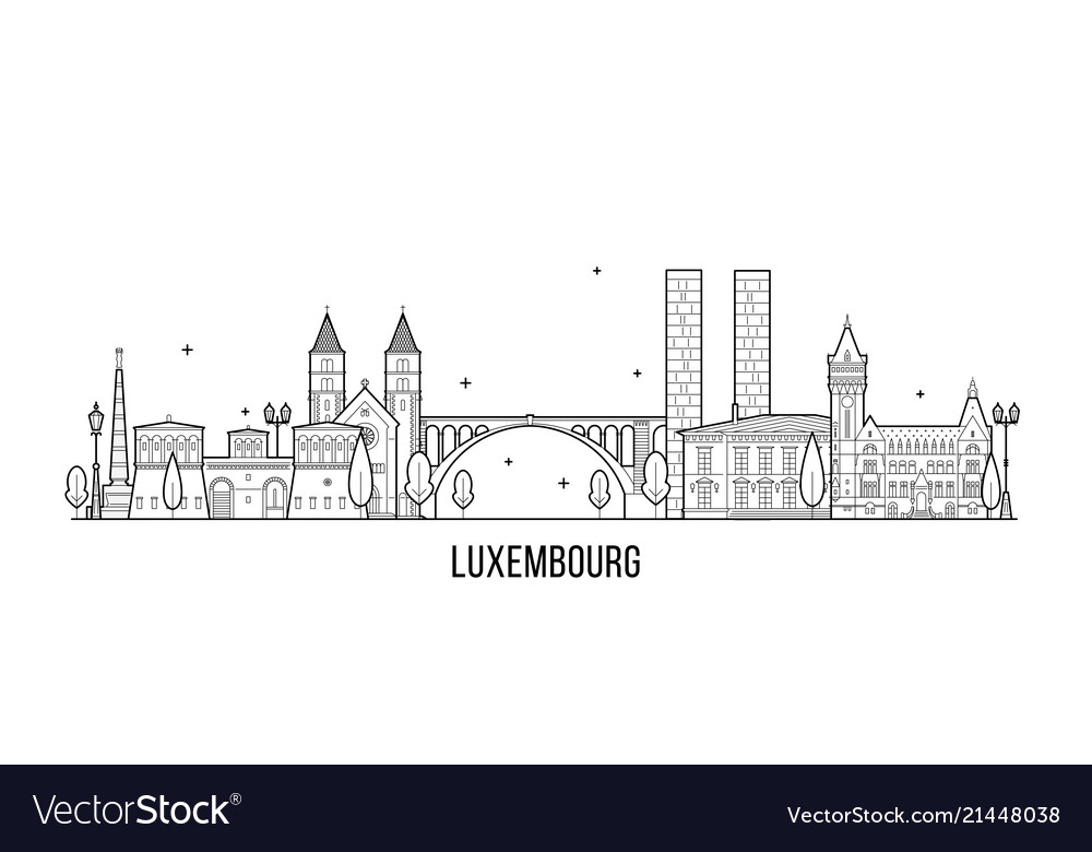 Luxembourg city skyline city buildings