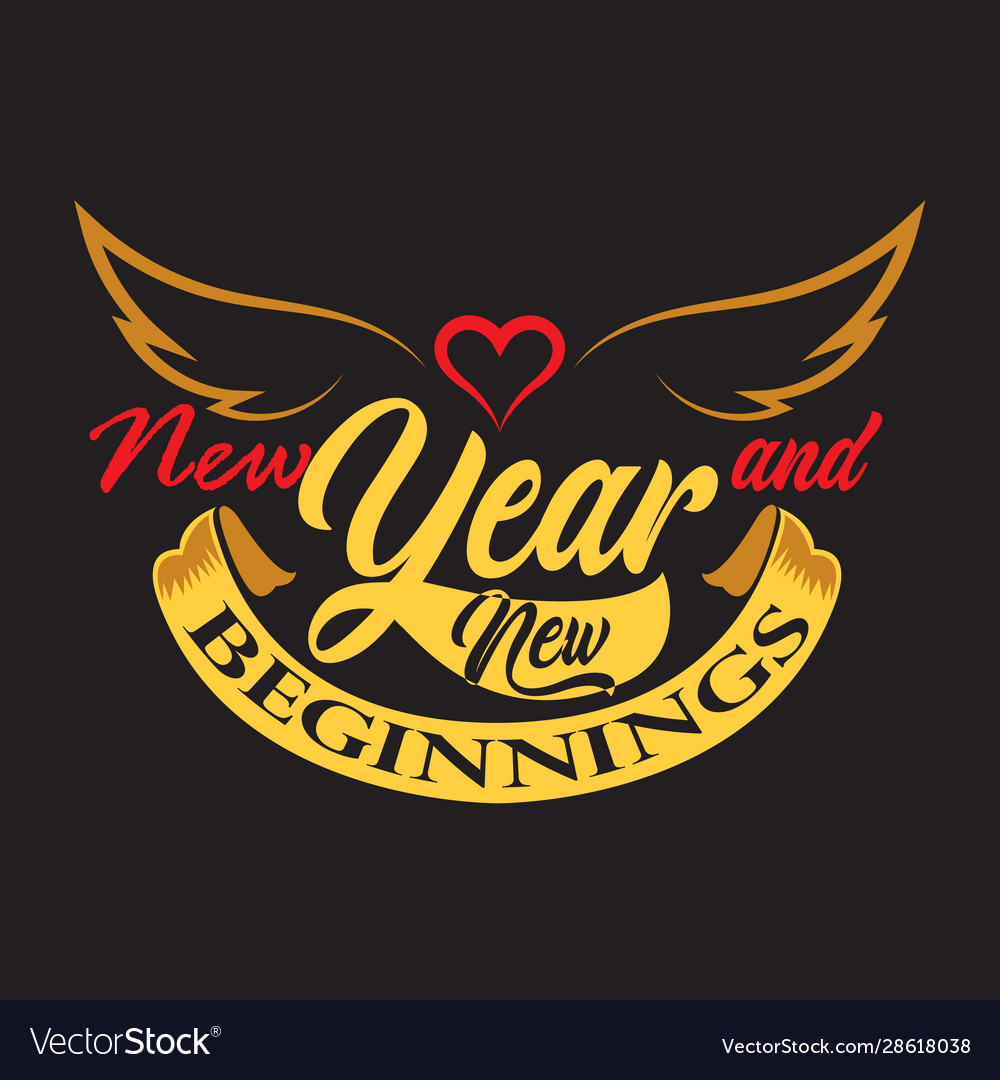 new year quote and slogan good for tee new year vector image