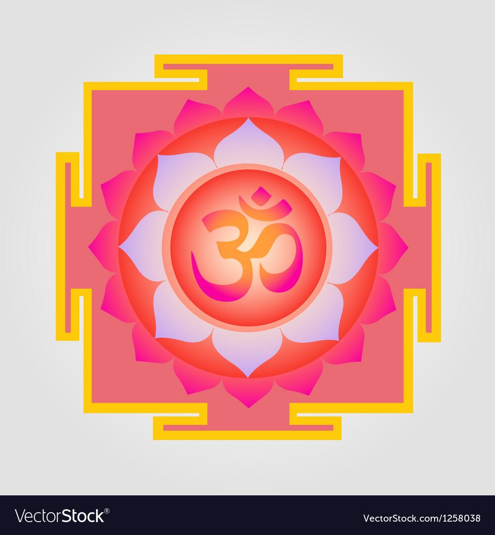 Om Yantra design vector image