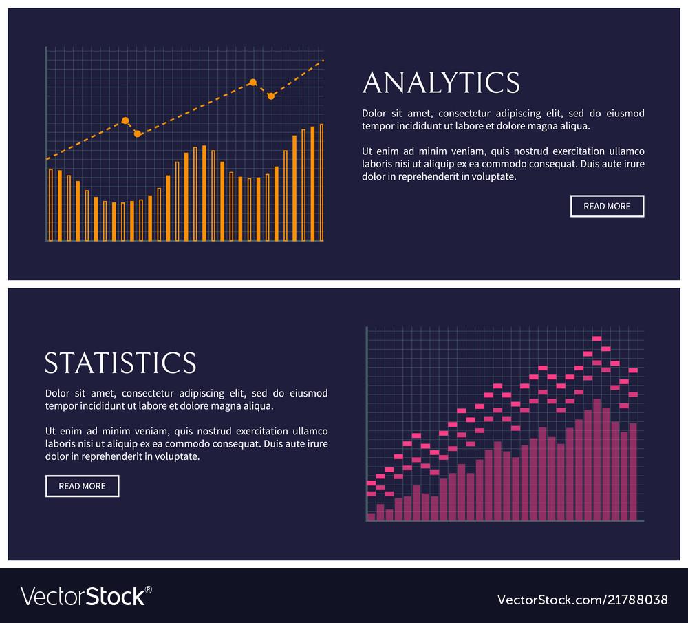 Statistics blue collection