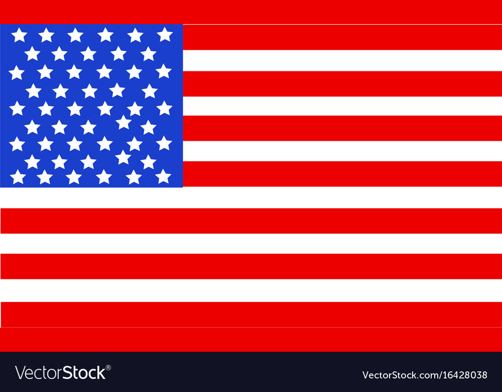 United state of america flag isolated