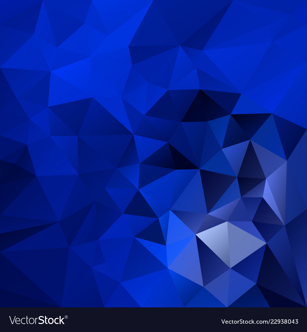 Abstract Polygonal Square Background Royal Blue Vector Image