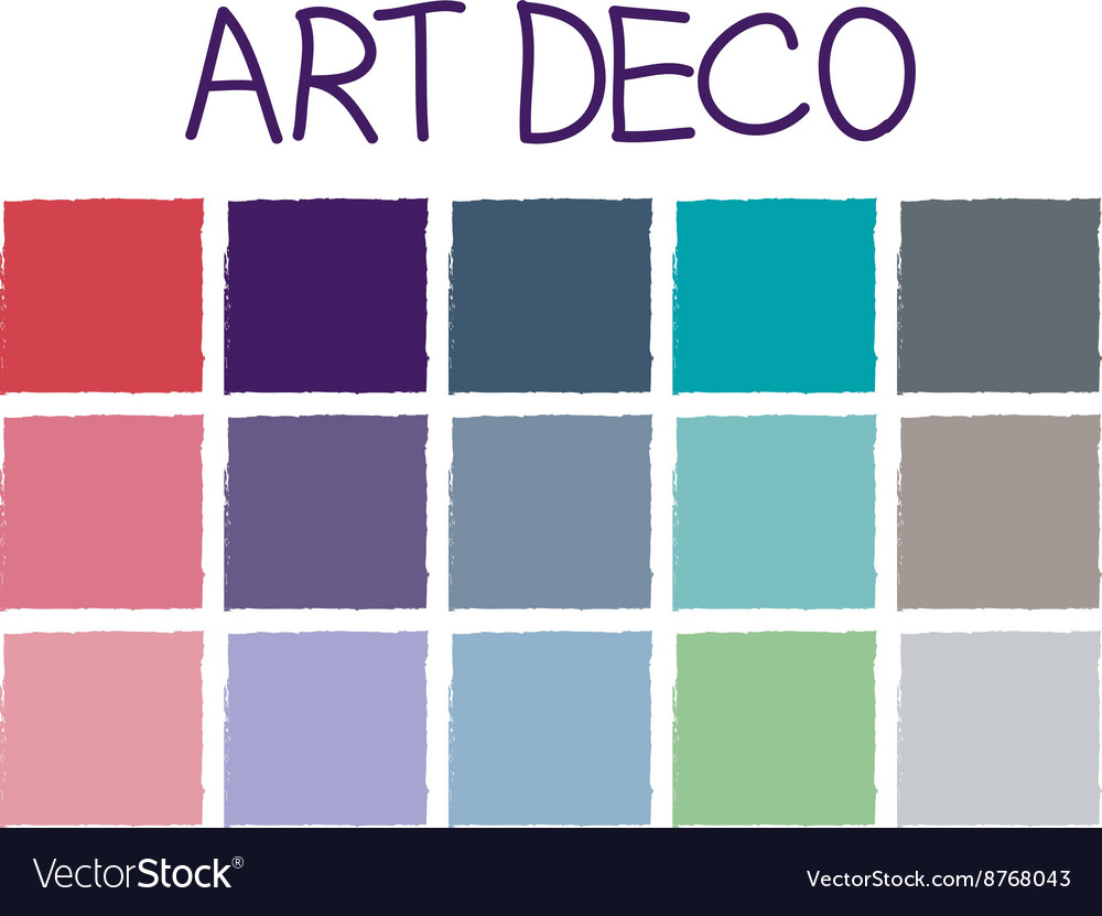 art deco color tone without code royalty free vector image
