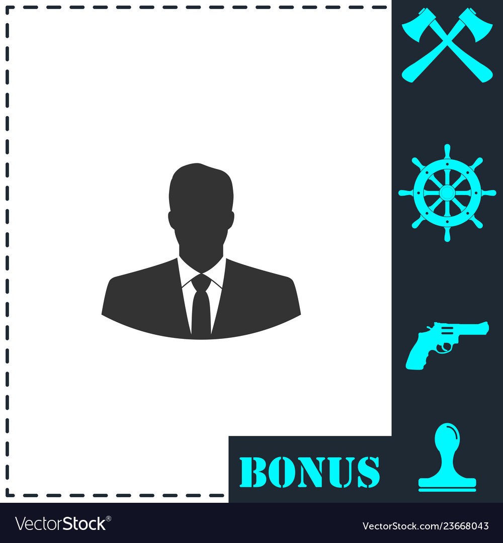 Businessman icon flat