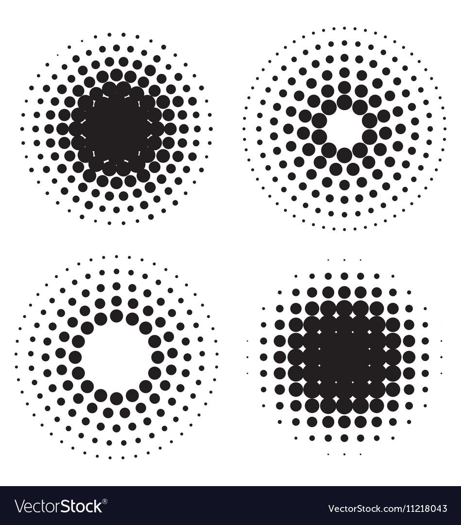 Halftone circles of dots