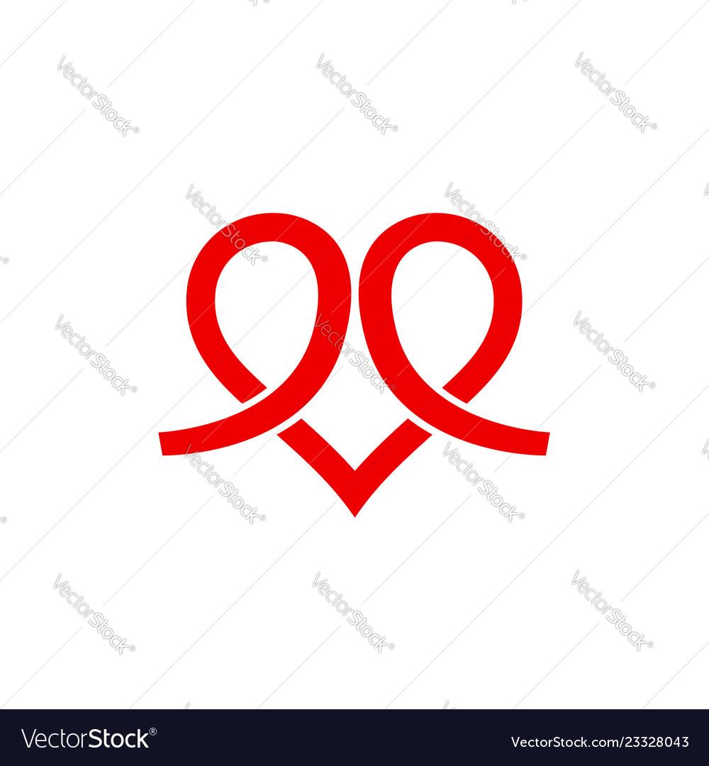 Heart icon logo logo shape love logo