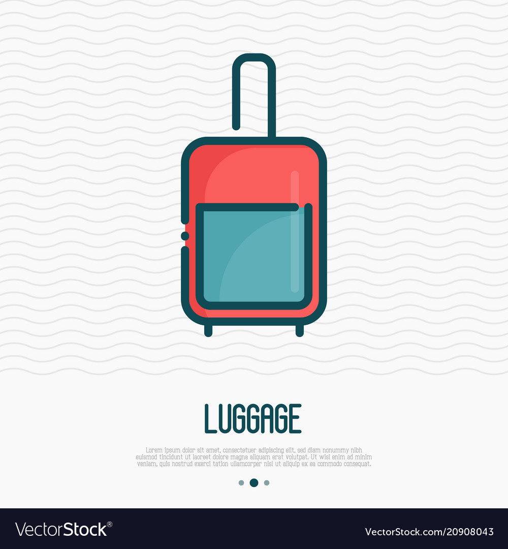 Luggage thin line icon